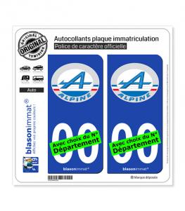 Alpine - Macaron | Autocollant plaque immatriculation