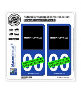 AMG - Black | Autocollant plaque immatriculation