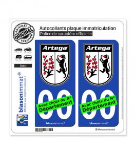 Artega - Macaron | Autocollant plaque immatriculation