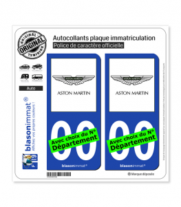 Aston Martin | Autocollant plaque immatriculation