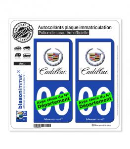 Cadillac | Autocollant plaque immatriculation