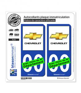 Chevrolet | Autocollant plaque immatriculation