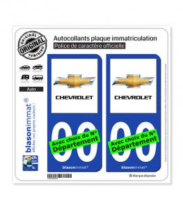 Chevrolet II | Autocollant plaque immatriculation