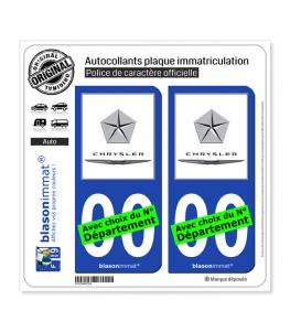 Chrysler | Autocollant plaque immatriculation