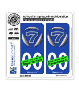 Caterham Seven | Autocollant plaque immatriculation