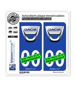 Dacia | Autocollant plaque immatriculation