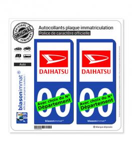 Daihatsu | Autocollant plaque immatriculation