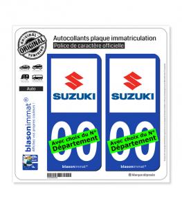 Suzuki | Autocollant plaque immatriculation