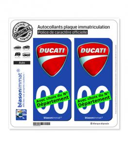 Ducati - Blason | Autocollant plaque immatriculation