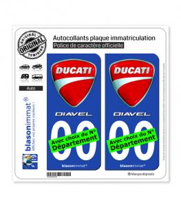 Ducati - Diavel | Autocollant plaque immatriculation