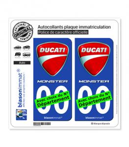 Ducati - Monster | Autocollant plaque immatriculation