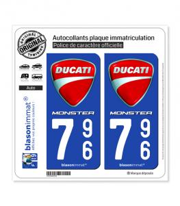 796 Ducati - Monster | Autocollant plaque immatriculation