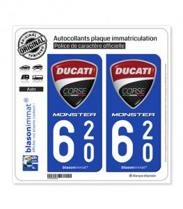 620 Ducati Corse - Monster | Autocollant plaque immatriculation