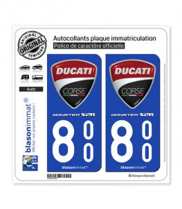 800 Ducati Corse - Monster S2R | Autocollant plaque immatriculation