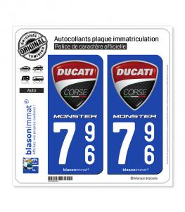 796 Ducati Corse - Monster | Autocollant plaque immatriculation