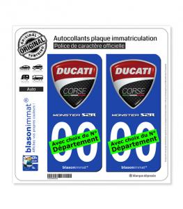 Ducati Corse - Monster S2R | Autocollant plaque immatriculation