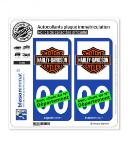 Harley-Davidson - Blason | Autocollant plaque immatriculation