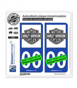 Harley-Davidson - Blason II | Autocollant plaque immatriculation