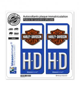 HD Harley-Davidson - Blason | Autocollant plaque immatriculation