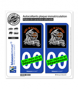 Harley-Davidson - Sons of Anarchy | Autocollant plaque immatriculation
