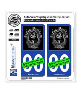 Harley-Davidson - Harlista Muertos | Autocollant plaque immatriculation