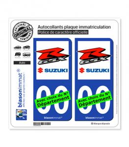 Suzuki - GSXR | Autocollant plaque immatriculation
