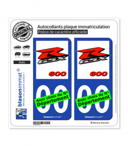 Suzuki - GSXR 600 | Autocollant plaque immatriculation