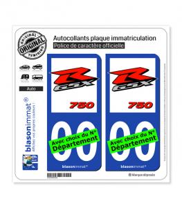 Suzuki - GSXR 750 | Autocollant plaque immatriculation