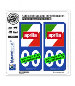 Aprilia - Italia | Autocollant plaque immatriculation