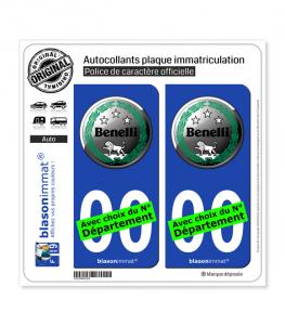 Benelli - Macaron | Autocollant plaque immatriculation