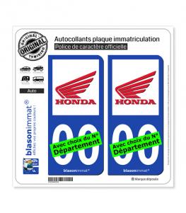 Honda - Moto II | Autocollant plaque immatriculation