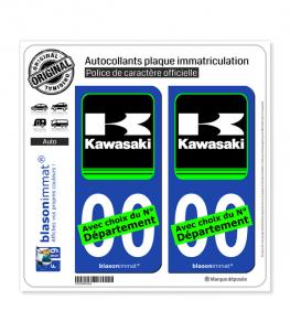 Kawasaki - Motors | Autocollant plaque immatriculation