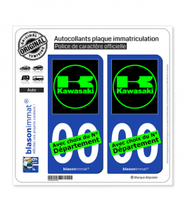 Kawasaki - Motors II | Autocollant plaque immatriculation