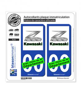 Kawasaki - Z1000 | Autocollant plaque immatriculation