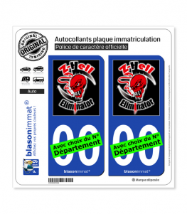 Kawasaki - ZL Eliminator | Autocollant plaque immatriculation