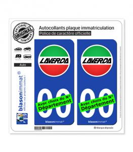 Laverda - Macaron | Autocollant plaque immatriculation