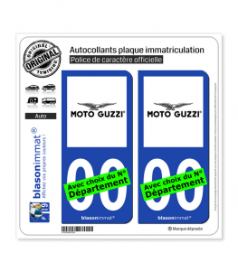 Moto Guzzi | Autocollant plaque immatriculation