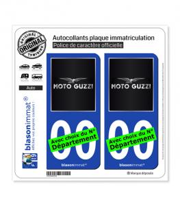 Moto Guzzi - Noir | Autocollant plaque immatriculation
