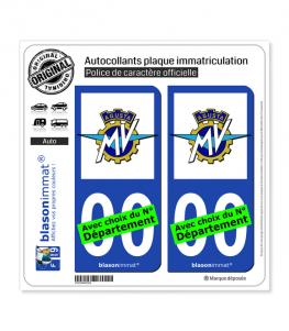 MV Agusta | Autocollant plaque immatriculation
