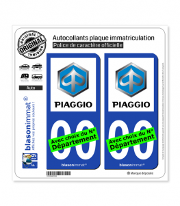 Piaggio - Macaron | Autocollant plaque immatriculation