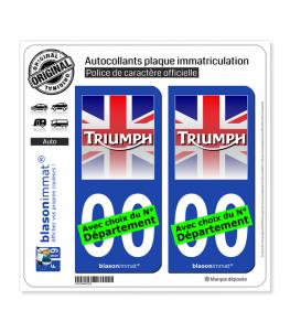 Triumph - Drapé | Autocollant plaque immatriculation
