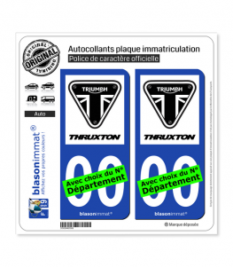 Triumph - Thruxton White | Autocollant plaque immatriculation