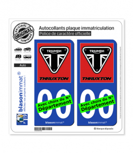 Triumph - Thruxton Red | Autocollant plaque immatriculation