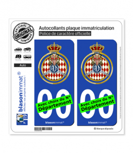Automobile Club de Monaco - Blason | Autocollant plaque immatriculation