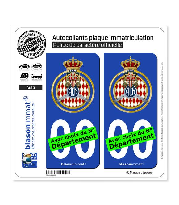 Automobile Club de Monaco - Blason | Autocollant plaque immatriculation