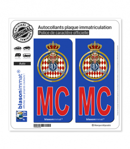 MC Rouge Automobile Club de Monaco - Blason | Autocollant plaque immatriculation