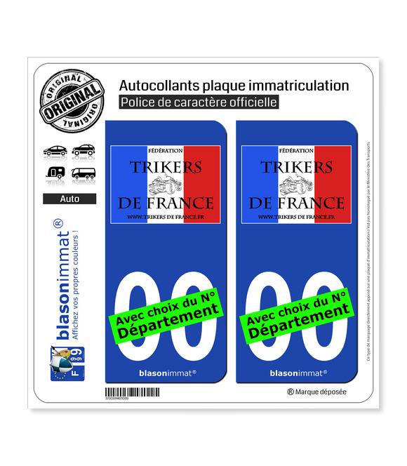 Fédération Trickers de France | Autocollant plaque immatriculation