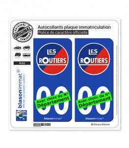 Les Routiers | Autocollant plaque immatriculation