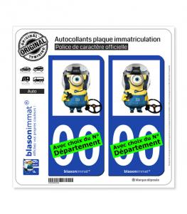 Minion - Morados | Autocollant plaque immatriculation
