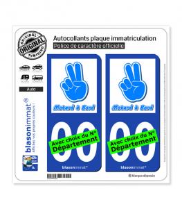 Motard à Bord | Autocollant plaque immatriculation